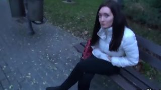 Beautiful czech teenie gets seduced in the shopping centre an