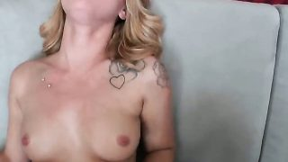 Blonde Lucy Tyler with phat butt and hairless