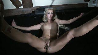 Blonde Valerie Follass enjoys dick sucking too