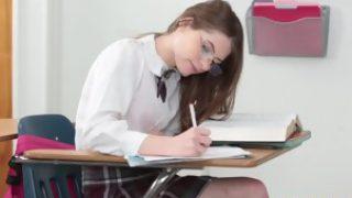 Dyked schoolgirl Alice Drea in lesbian sex