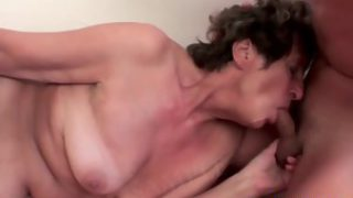 Guy rams hairy pussy of mature lady