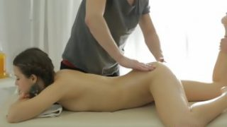 Hot ass babe Taissia Shanti gets banged by two masseurs