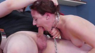 Mixed wrestling female domination and handgag handjob bondage