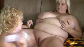 Two Fat Blonde Ladies Having Hot Lesbian Sex