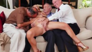 Very old granny creampie and old milf pov blowjob Frankie And