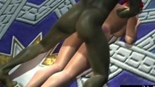 3D Elf fucked in weird cartoon fantasy