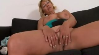 Busty blonde mommy fucking with BBC