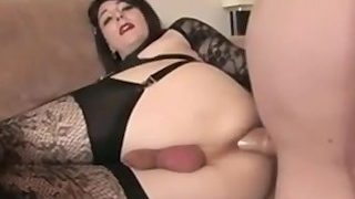 Sexy Brunette Crossdresser