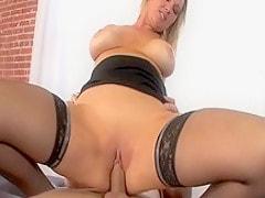 Hottest pornstar Abbey Brooks in amazing facial, blonde porn movie